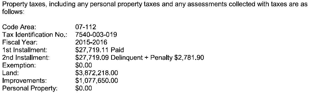 DESIRE MELI KOCARSLAN DEBT PROBLEMS? According to a June 2016 title report, in addition to a $4,000,000 mortgage on the property, Kocarslan owes over $100,000 to two different lawyers and was delinquent on her 2015-2016 property taxes.