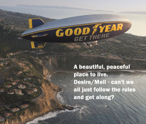 Good Year Blimp Horcada Bluff Cove - Annotated & Cropped